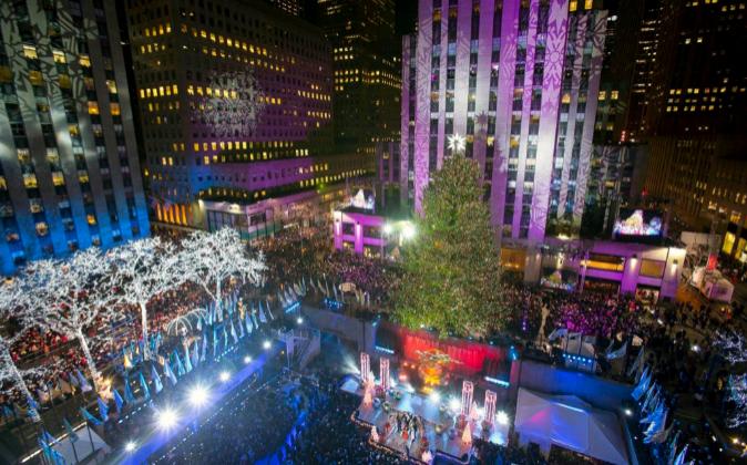 Inauguración del árbol de navidad en el Rockefeller Center en Nueva...