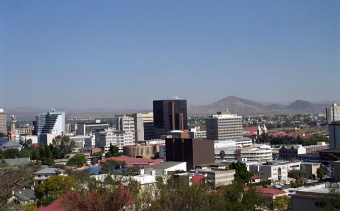 Vista de Windhoek, capital de Namibia