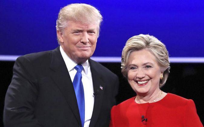 El candidato republicano a la presidencia de Estados Unidos Donald...