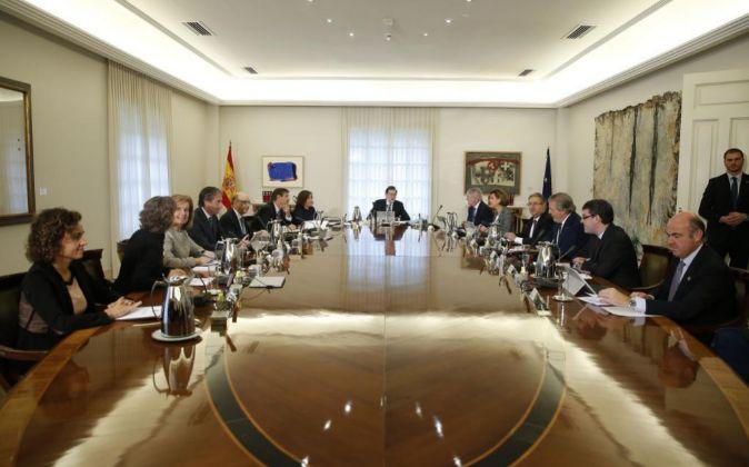 Primera reunión del nuevo Gobierno de Mariano Rajoy.