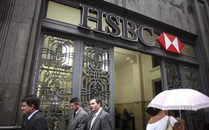 Fachada de una sucursal de HSBC.