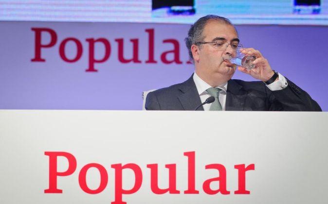 El presidente de Banco Popular, Ángel Ron, en la última junta de...