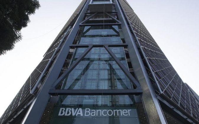 Imagen de la sede de BBVA Bancomer en México D.F.