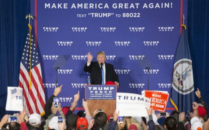 El candidato republicano a la Casa Blanca, Donald Trump.