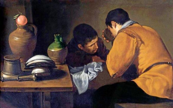 'Dos hombres a la mesa' de Velázquez. Cedida por Apsley...