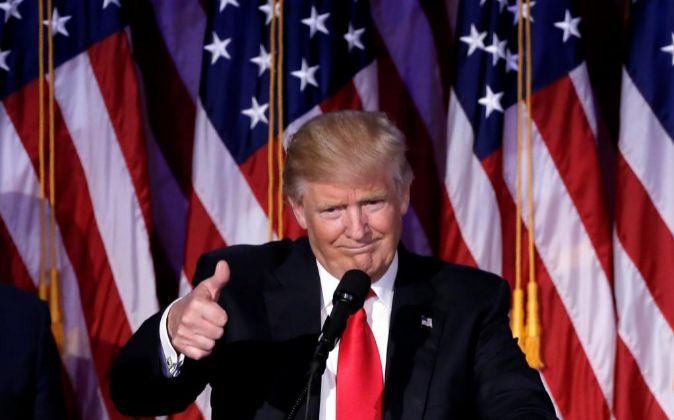 El presidente electo de EEUU, Donald Trump.