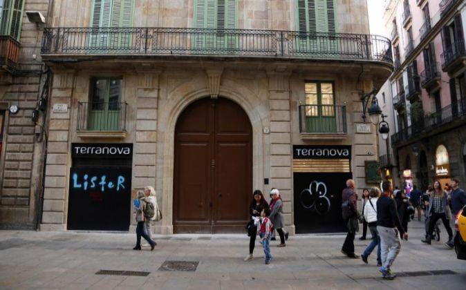 Una calle en Barcelona.