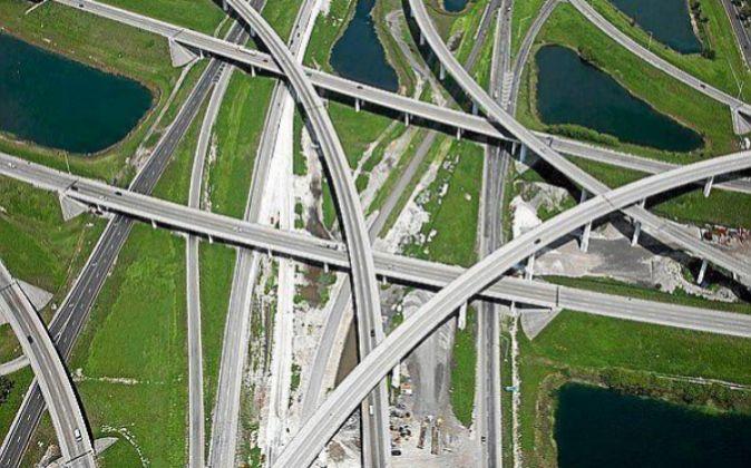 Vista de una autopista en Estados Unidos de Iridium, filial de ACS.