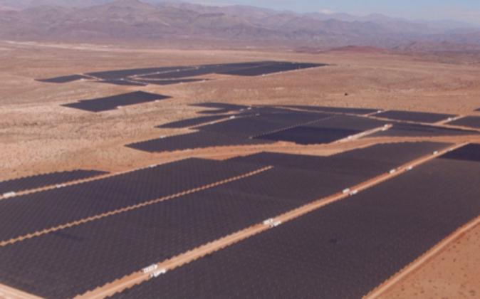 Vista aérea de la central 'El Romero Solar', en Chile.