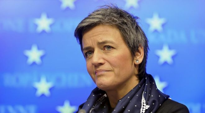 Margrethe Vestager,comisaria de la Competencia de la Unión Europea.
