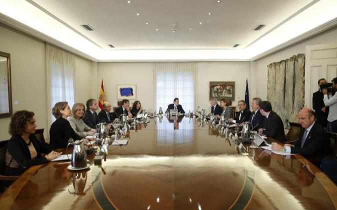 Los ministros, durante la reunión del pasado viernes.