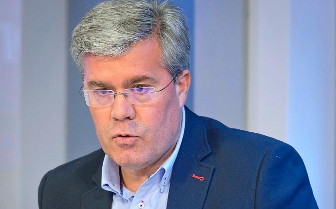 José Enrique Fernández de Moya, durante un debate de economía en...