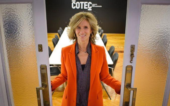 Cristina Garmendia, en las oficinas de la Fundación Cotec, de la que...