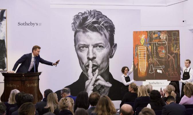 Imagen de la subasta celebrada en Sotheby's de Londres, en la que...