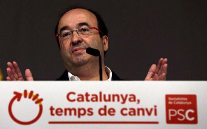 El líder del PSC Miquel Iceta.
