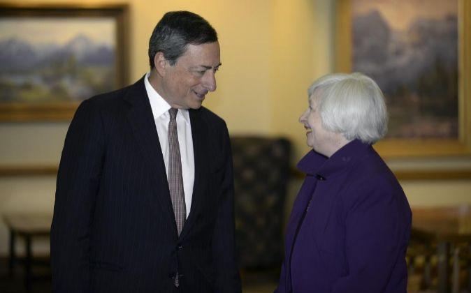 Mario Draghi y Janet Yellen.