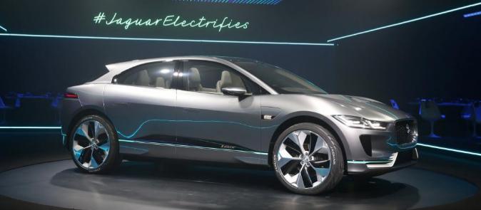 El Jaguar I-Pace Concept, durante su presentación en Los Ángeles