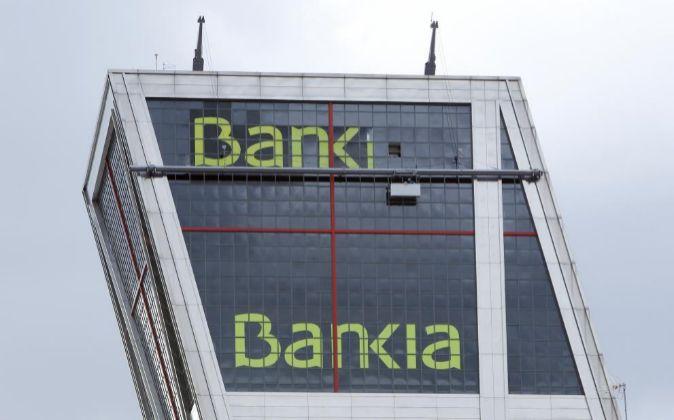 Torre de Bankia en la plaza de Castilla en Madrid.