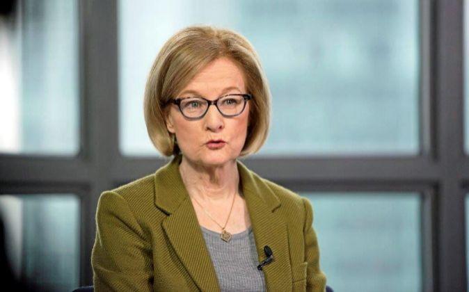 Daniéle Nouy, presidenta del Supervisor Único Europeo.