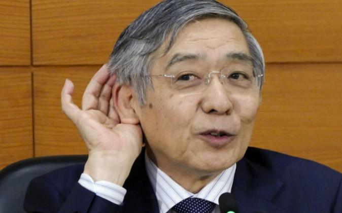 El gobernador del Banco de Japón, Haruhiko Kuroda, el pasado 21 de...