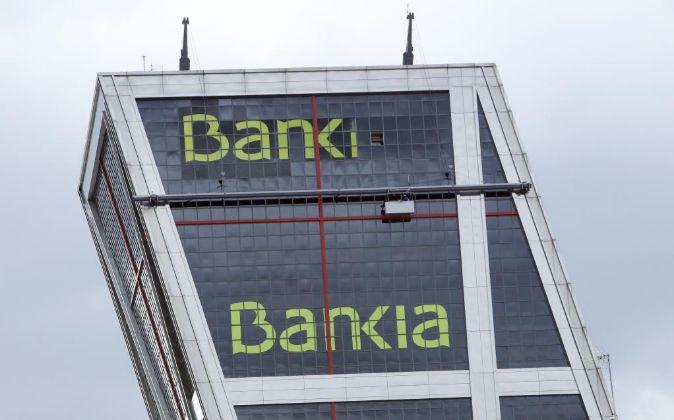 Imagen de la Torre Bankia en Plaza de Castilla, en Madrid.