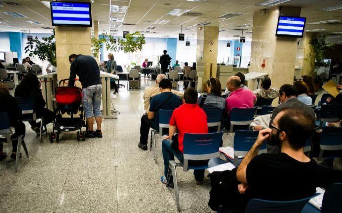 Una delegación de la Agencia Tributaria en Madrid.