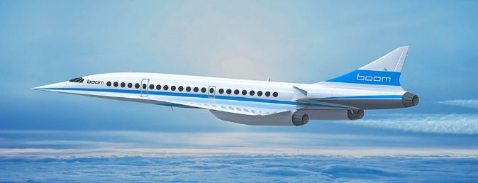 Avión en pruebas. Boom, una empresa de Denver (EEUU), asegura que...