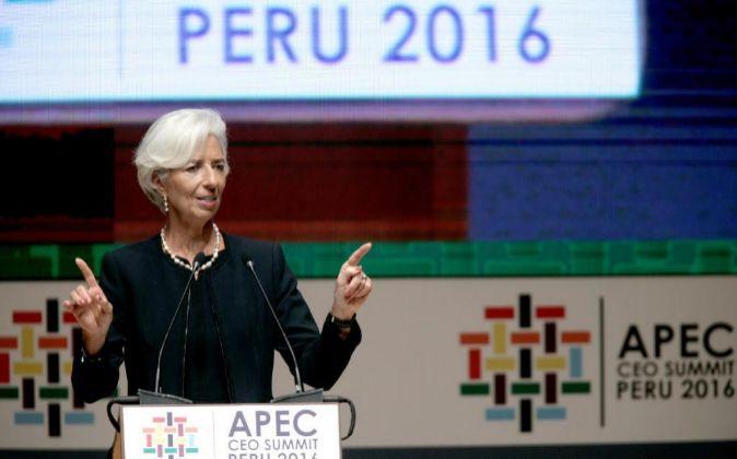 La directora gerente del FMI Christine Lagarde.