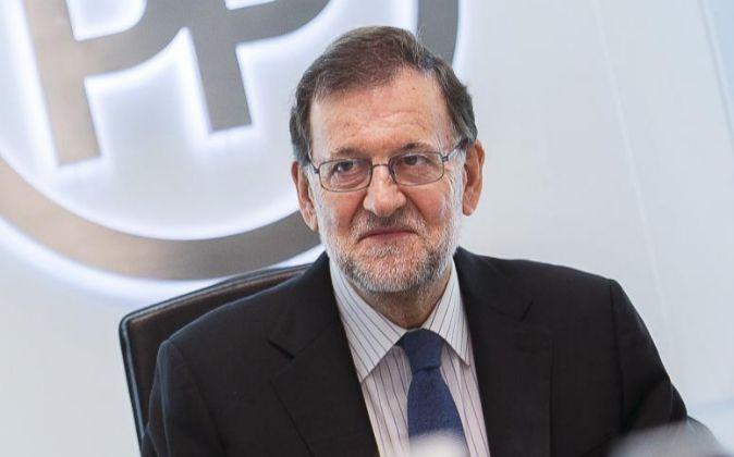 El líder del Partido Popular y presidente del Gobierno, Mariano...