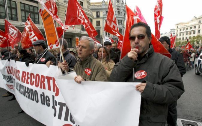 Imagen de archivo de una manifestación en 2010 de los funcionarios de...