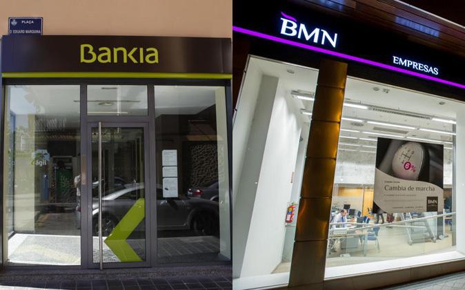 Sucursales de Bankia y BMN.