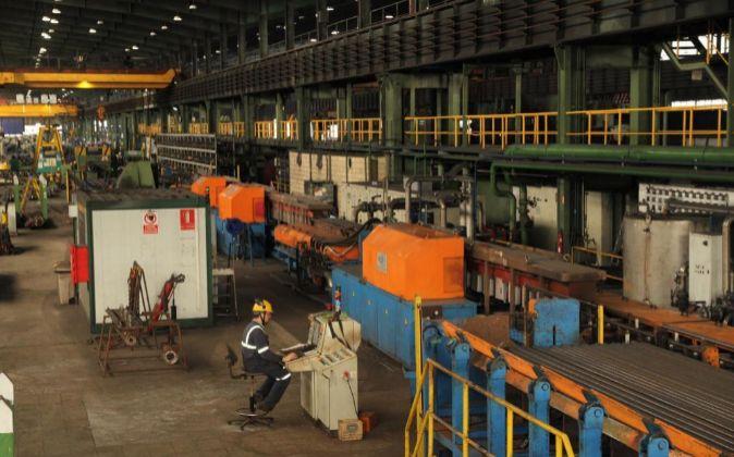 Imagen de una fábrica de Sidenor en el País Vasco.