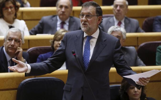 Rajoy, ayer en el Senado.
