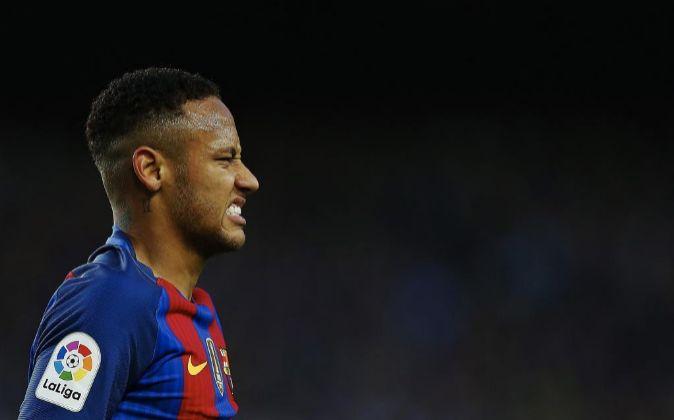El delantero brasileño del FC Barcelona Neymar Jr.