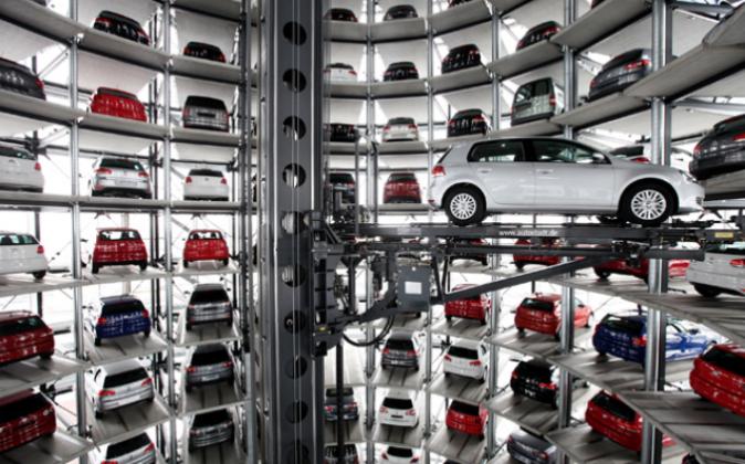 Una fabrica de Volkswagen en una imagen de archivo.