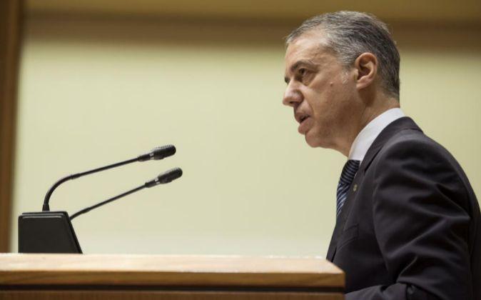 El lehendakari, Iñigo Urkullu, en el pleno de investidura del...