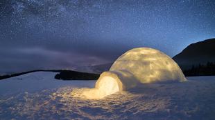 Los paisajes helados del Ártico en Suecia son el patio de recreo de...
