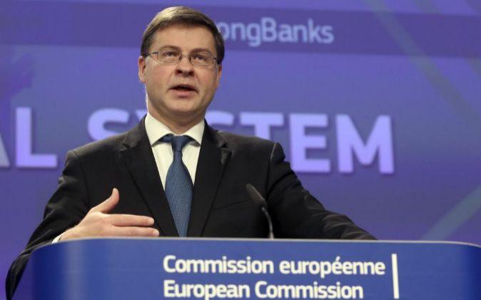 Valdis, Dombrovskis, vicepresidente de la Comisión Europea.