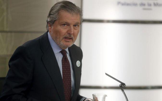 El ministro de Educación y Portavoz del Gobierno,Iñigo Méndez de...