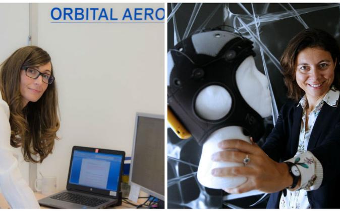 Ascen Cruchaga, creadora de Orbital Aeroespace, y Ana Maiques,...