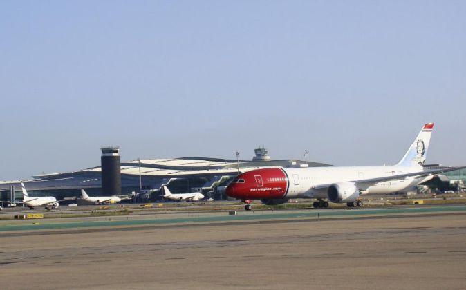 Boeing 787-800 de la compañía Norwegian.