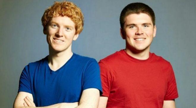 LOs hermanos John y Patrick Collison, fundadores de Stripe.