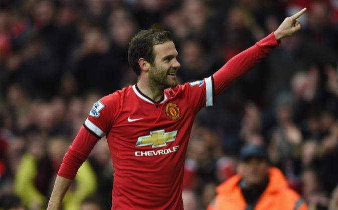 El jugador del Manchester United, Juan Mata.