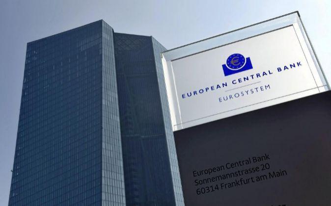 Vista de la sede de Fráncfort del BCE.
