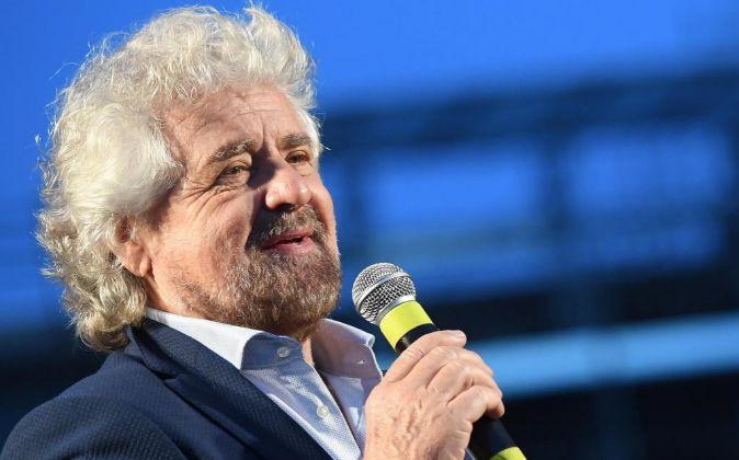 Beppe Grillo, líder del Movimiento 5 Estrellas.