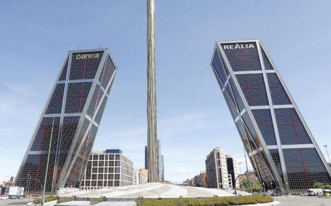 Vista de la sede de Bankia en Plaza de Castilla, Madrid.