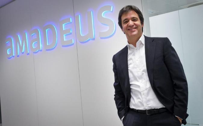 Luis Maroto, consejero delegado de Amadeus, en la oficinas centrales...