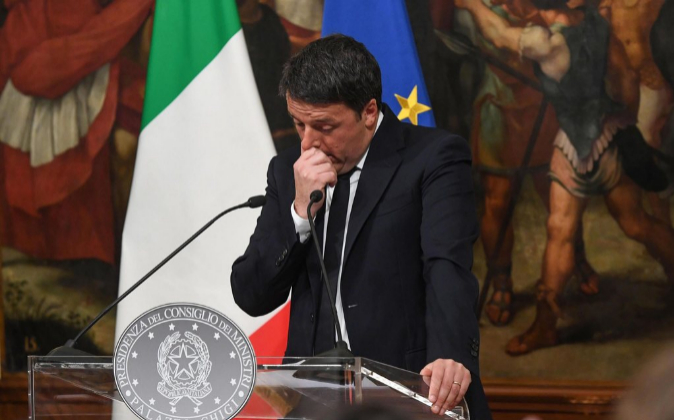 El todavía primer ministro de Italia, Matteo Renzi.