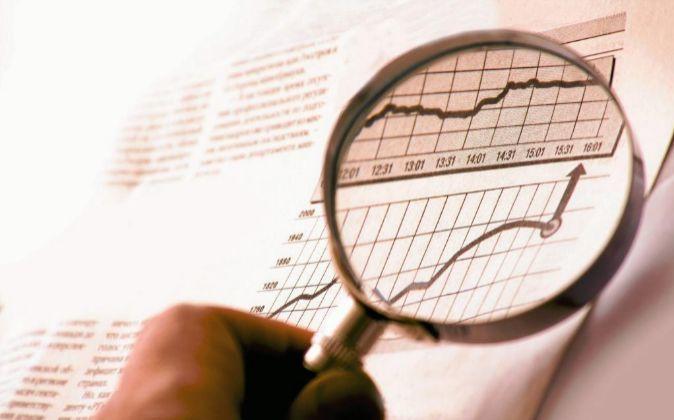 Imagen de un gráfico con la evolución de los mercados