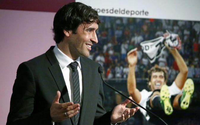 El exfutbolista del Real Madrid, Raúl González.